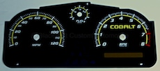 Cobalt Gloss Black and Yellow Gauge Face