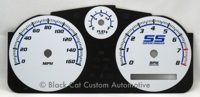 Cobalt White Blue and Green Gauge Face
