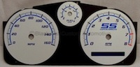 Cobalt SS/SC Silver and Blue Gauge Face