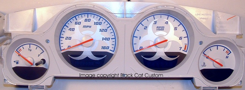 Black Cat Custom Automotive Gauge Faces For All Makes