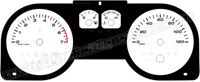 05-09 Ford Mustang V6 500 Style Gauge Face