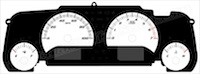 2007-2015 Jeep Wrangler Gauge Face