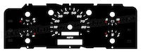 1992-1996 Ford F150 Gauge Face without Tachometer