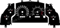 94-98 Ford Mustang GT Retro Style Gauge Face