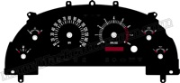 99-04 Ford Mustang GT Retro Style Gauge Face
