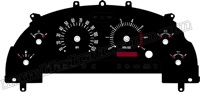 99-04 Ford Mustang V6 Retro Style Gauge Face