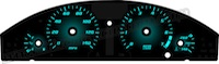 Chrysler 300 Gradient Backlight Gauge Face