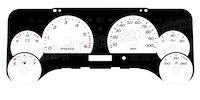 1997-2006 Jeep Wrangler Gauge Face